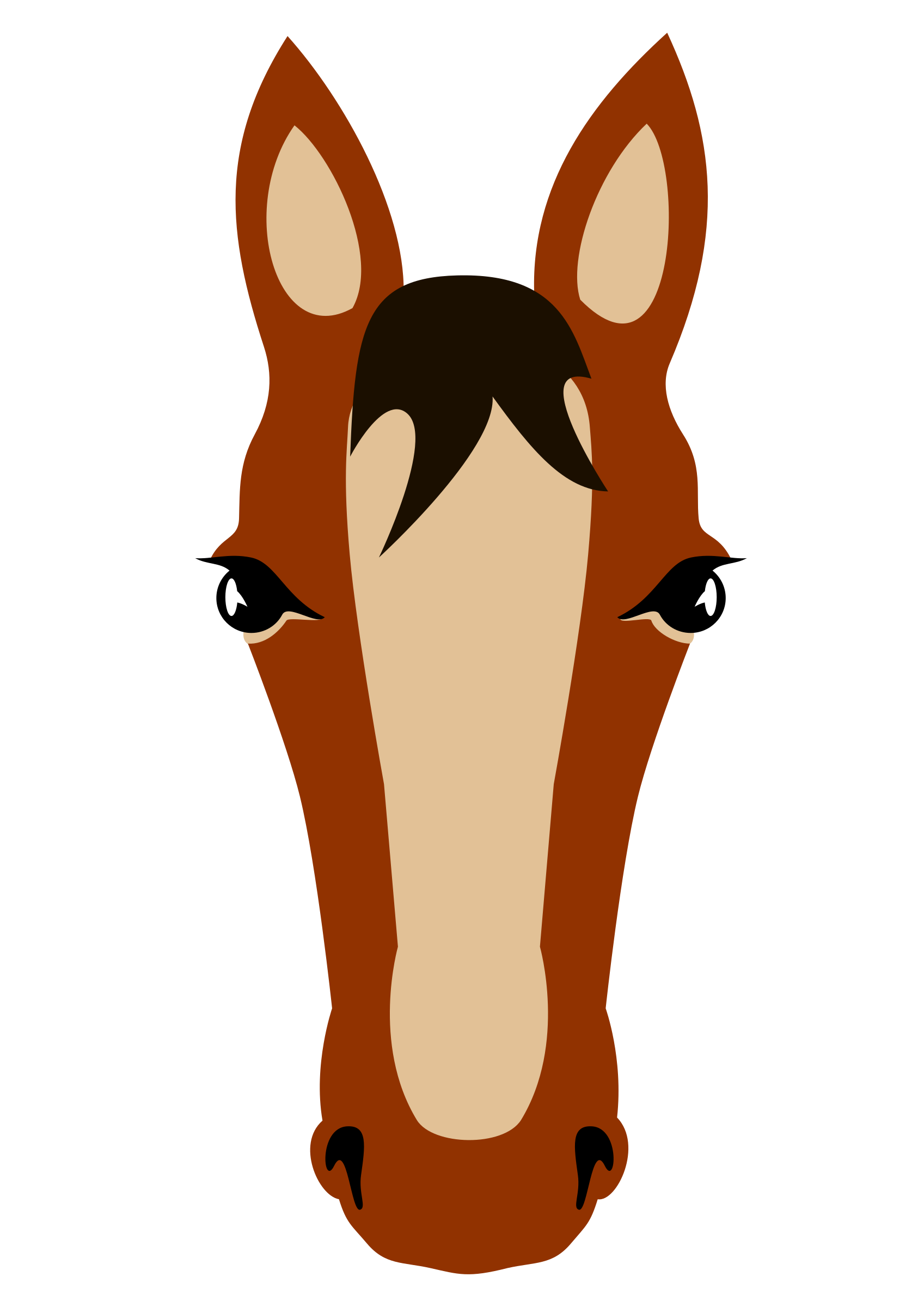 clipart horse front