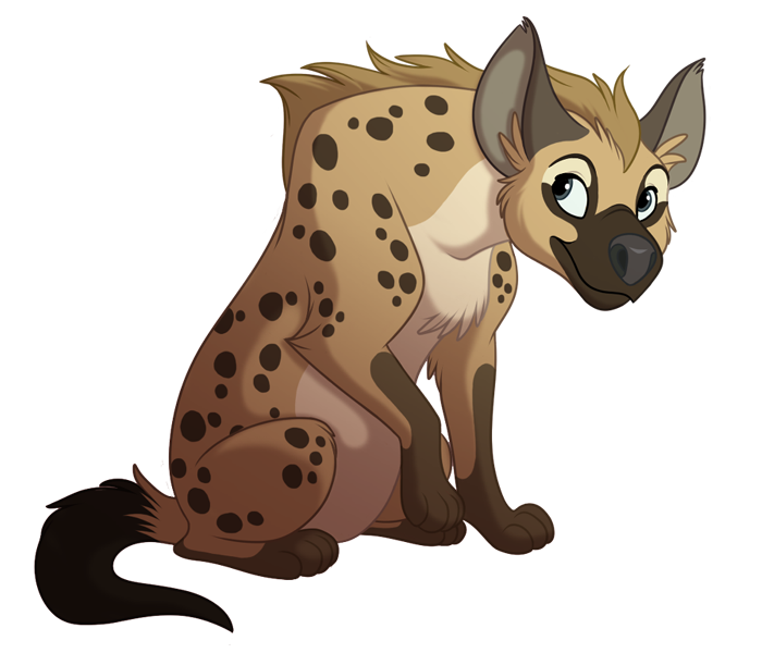 collection of cute. Head clipart hyena