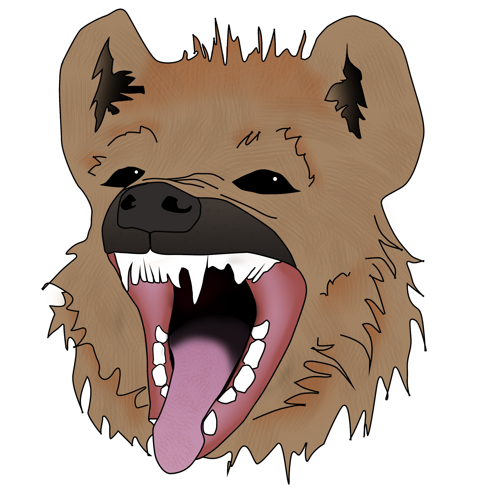 Free collection download and. Face clipart hyena