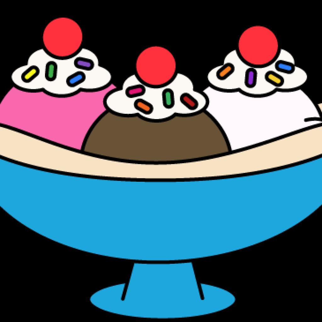 Sundae border alternative design. Clipart face ice cream
