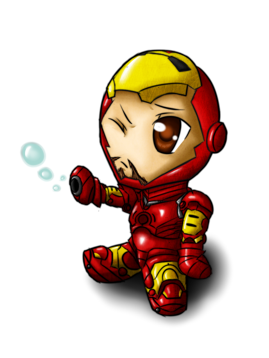 Chibi by magy san. Clipart face ironman