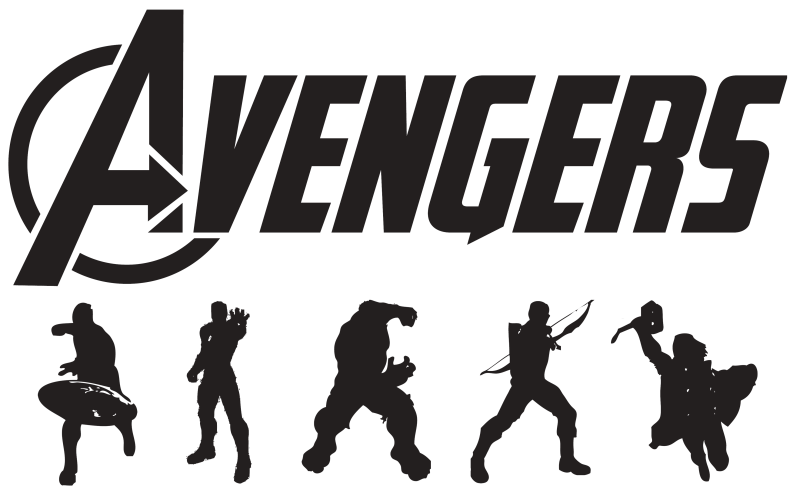 Clipart face ironman. Avengers black and white