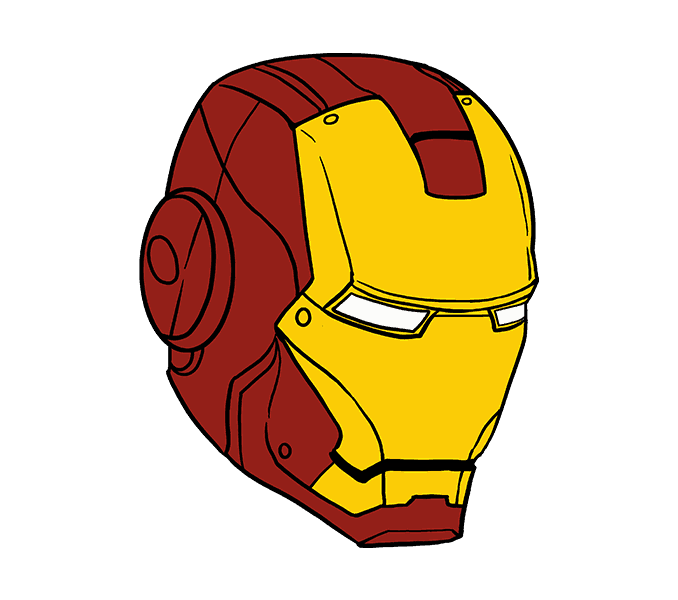 Clipart face ironman.  collection of drawing