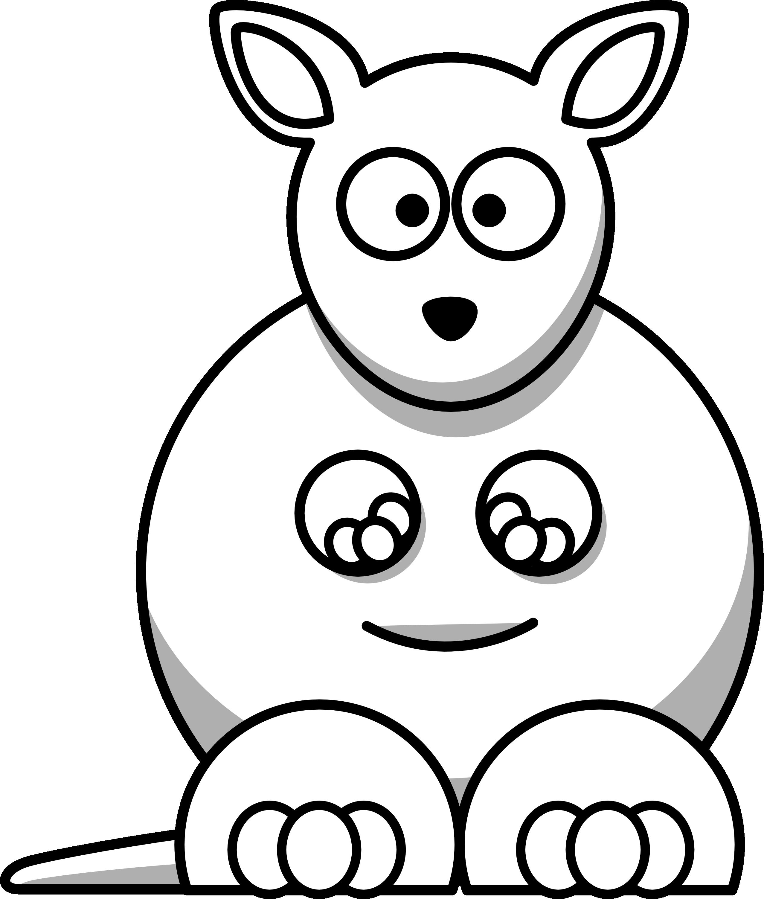 Iphone clipart coloring book. Simple kangaroo face drawing