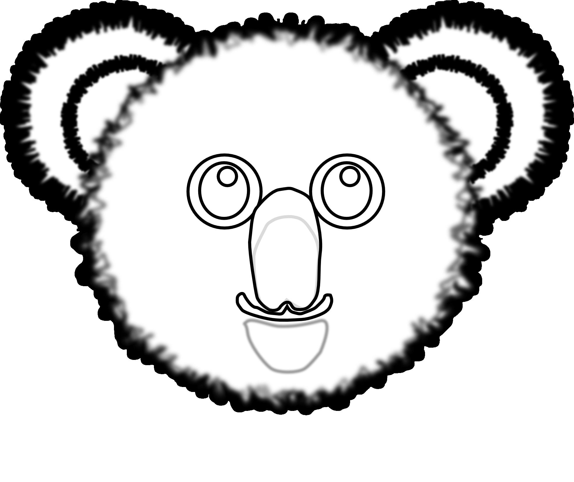 Black and white panda. Clipart face koala