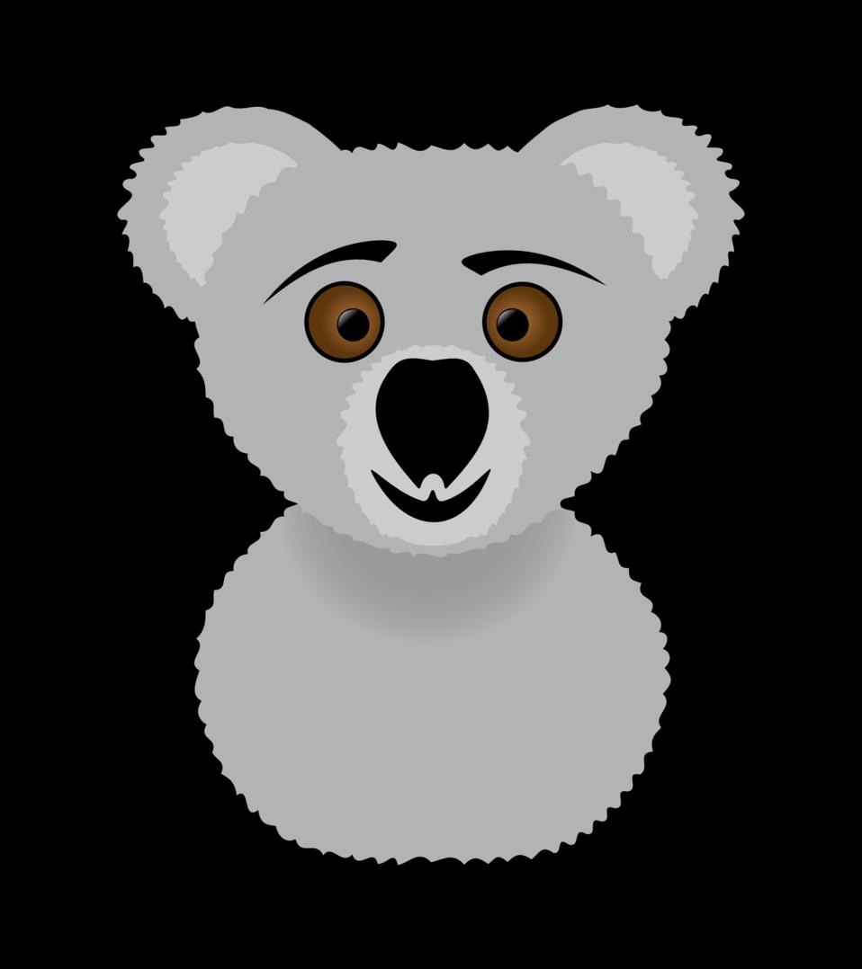 Public domain clip art. Clipart face koala