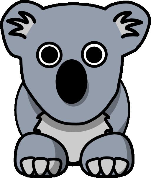 Clipart face koala. Cartoon i royalty free