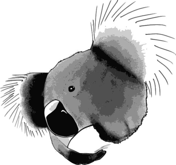 Clipart face koala. Clip art at clker