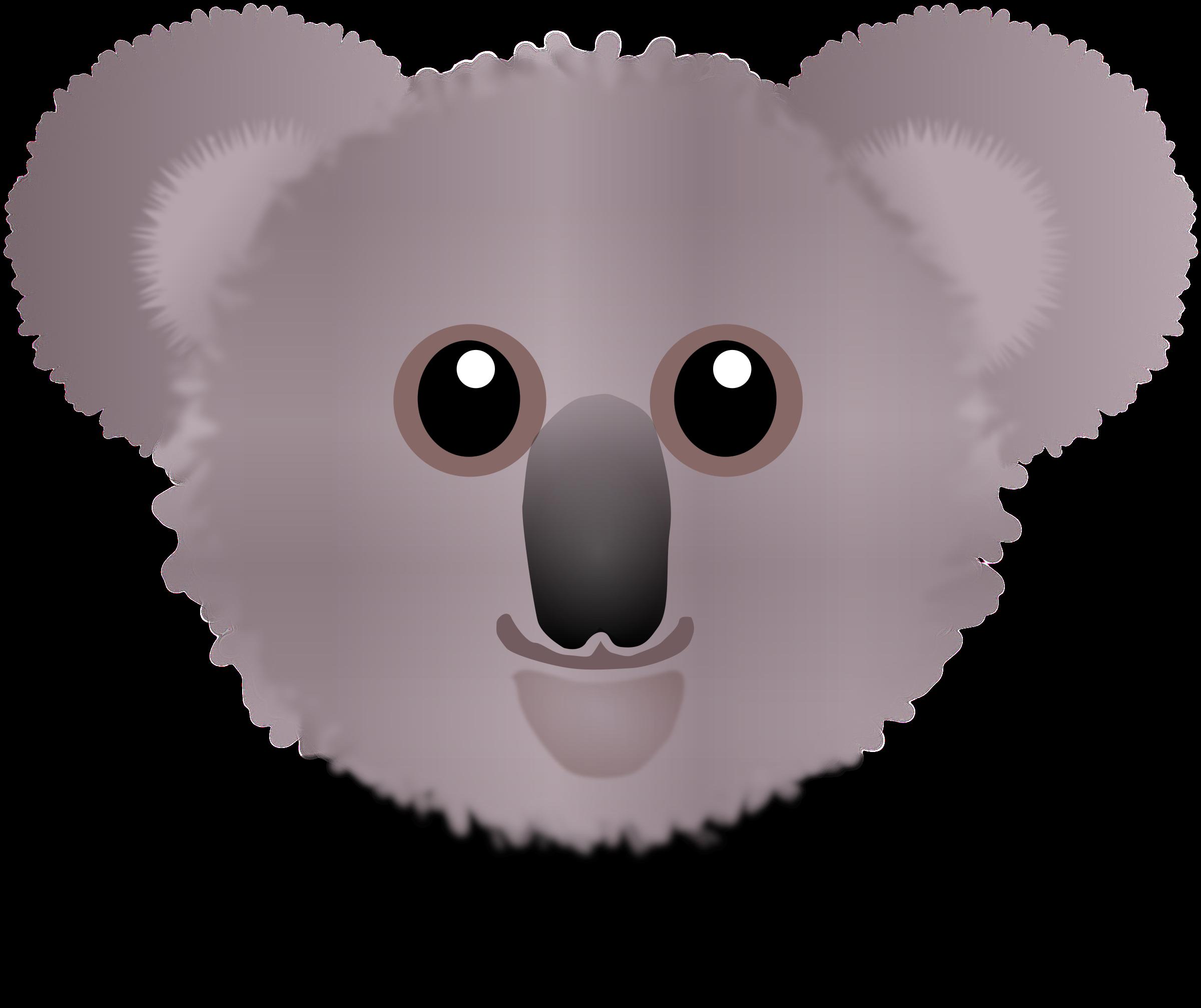 Funny cartoon big image. Clipart face koala