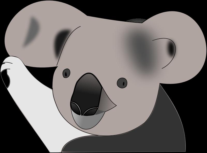 Clipart face koala.  collection of high