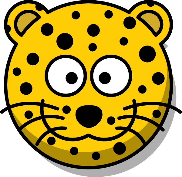 Leopard without tail clip. Head clipart cheetah