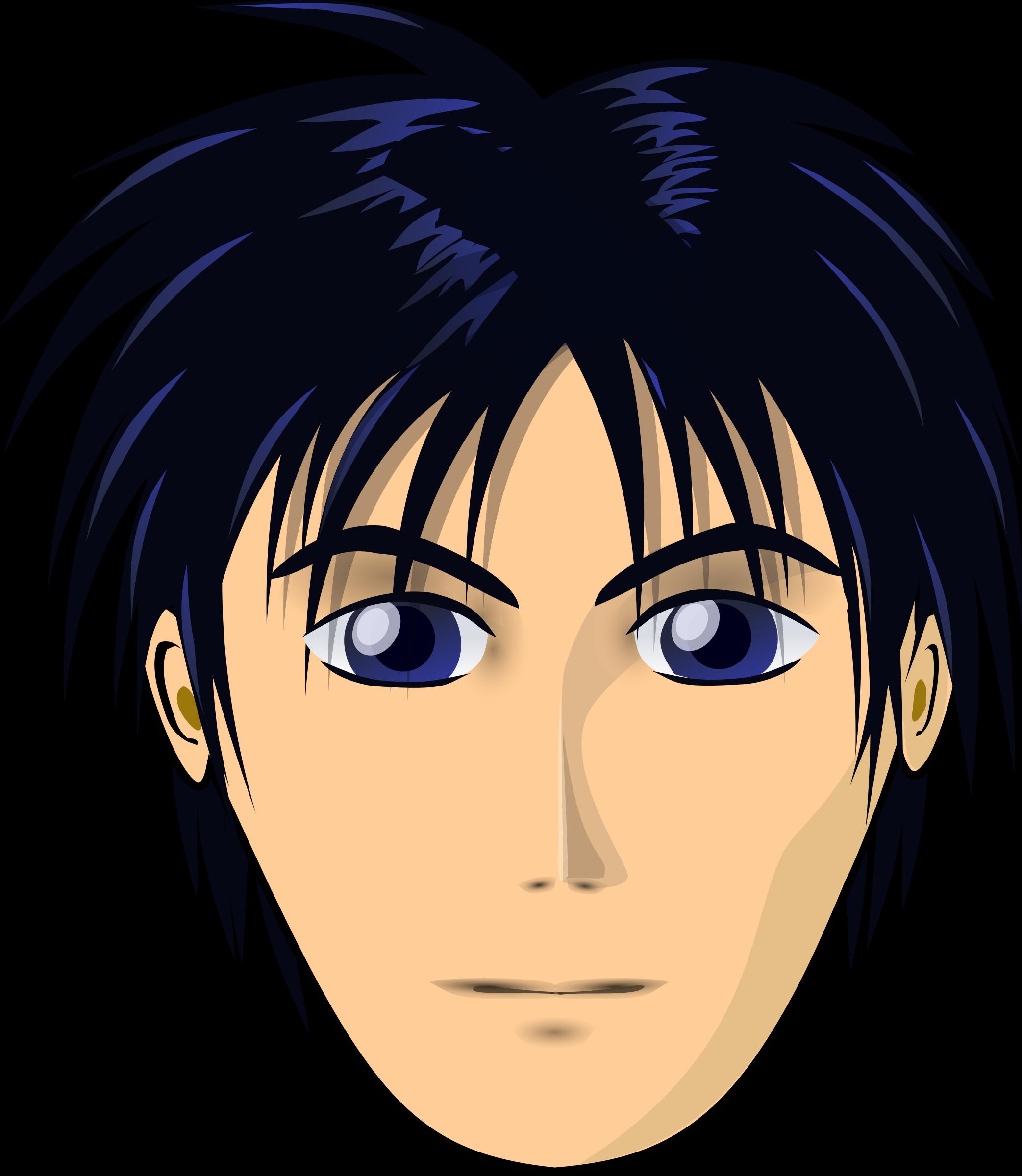 Anime longer big image. Face clipart man