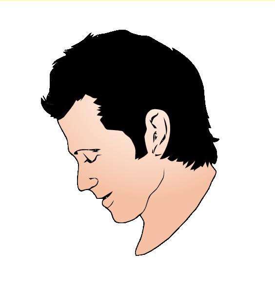 Man face clip art. Chin clipart boy side view