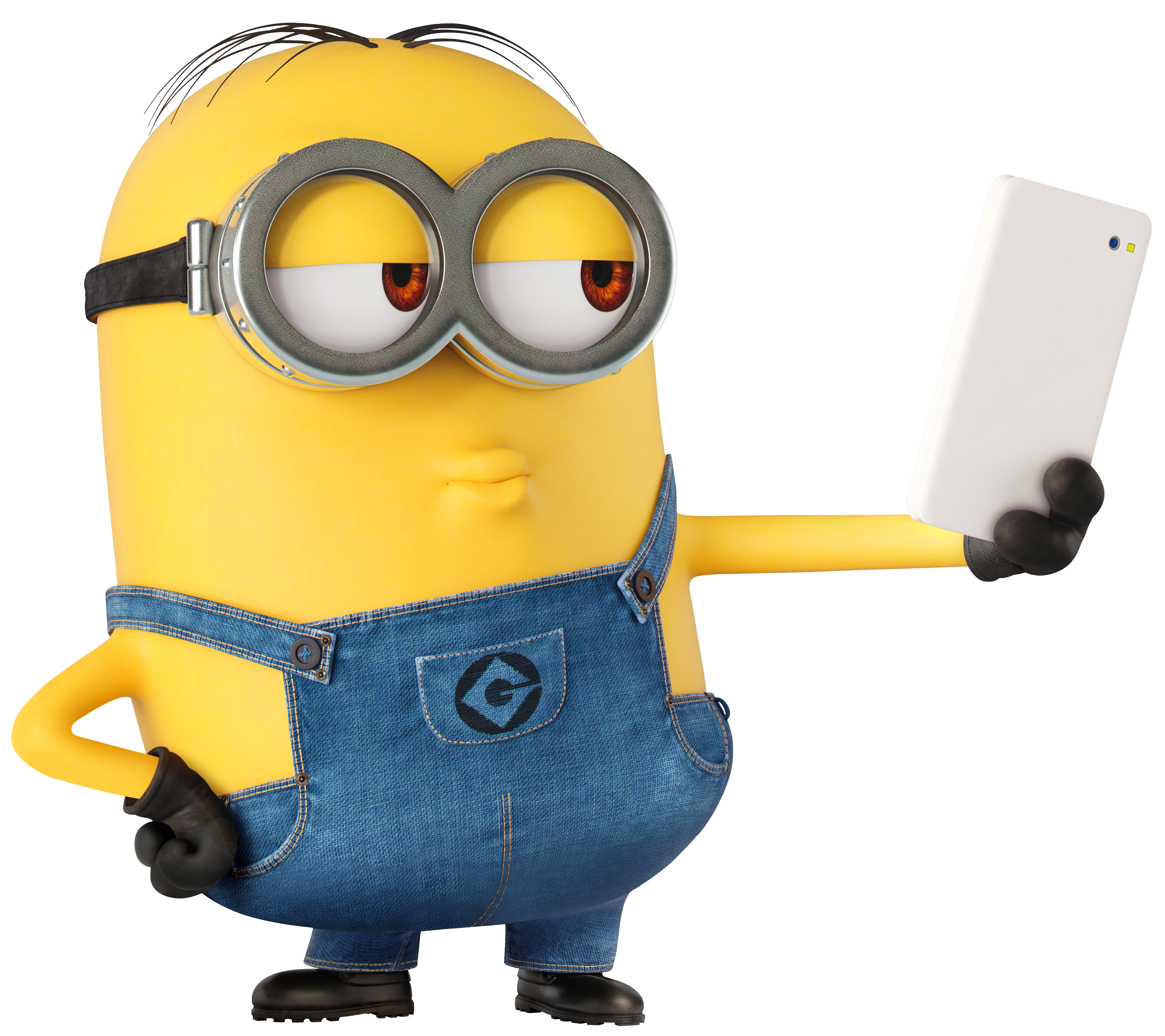 Minions clipart print. Minion selfie large transparent