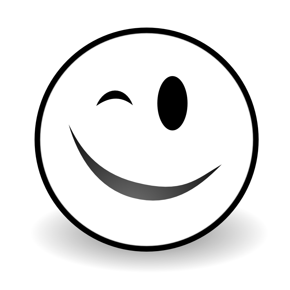 Wink black and white. Weight clipart kid
