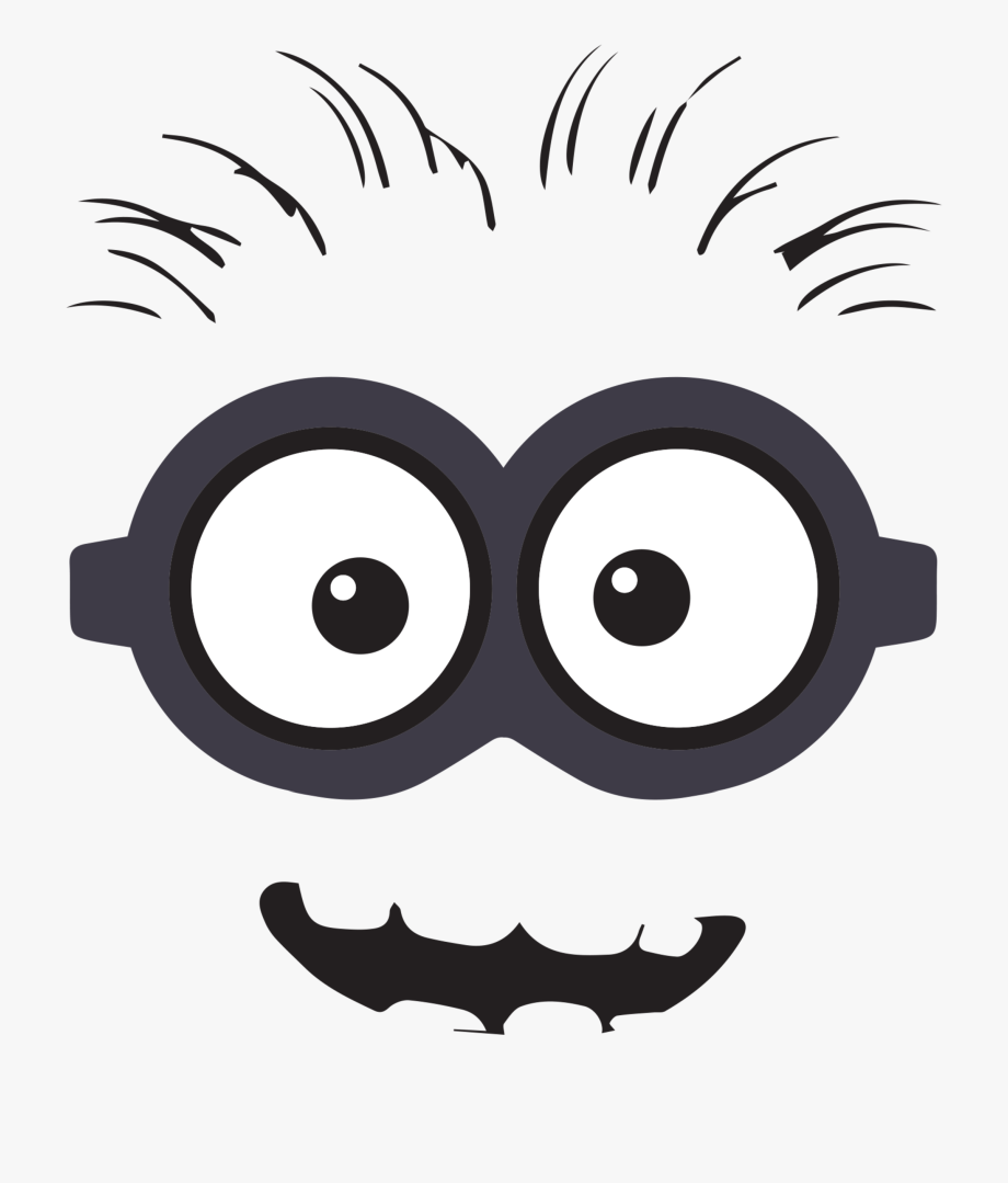 Eyes black and white. Minions clipart mouth