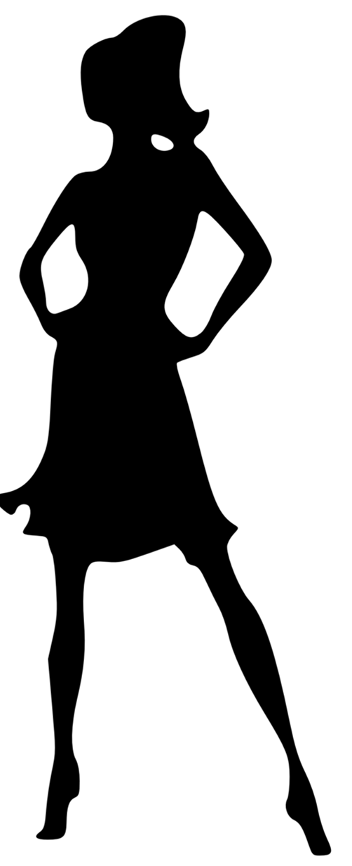 Runway silhouette at getdrawings. Lady clipart model