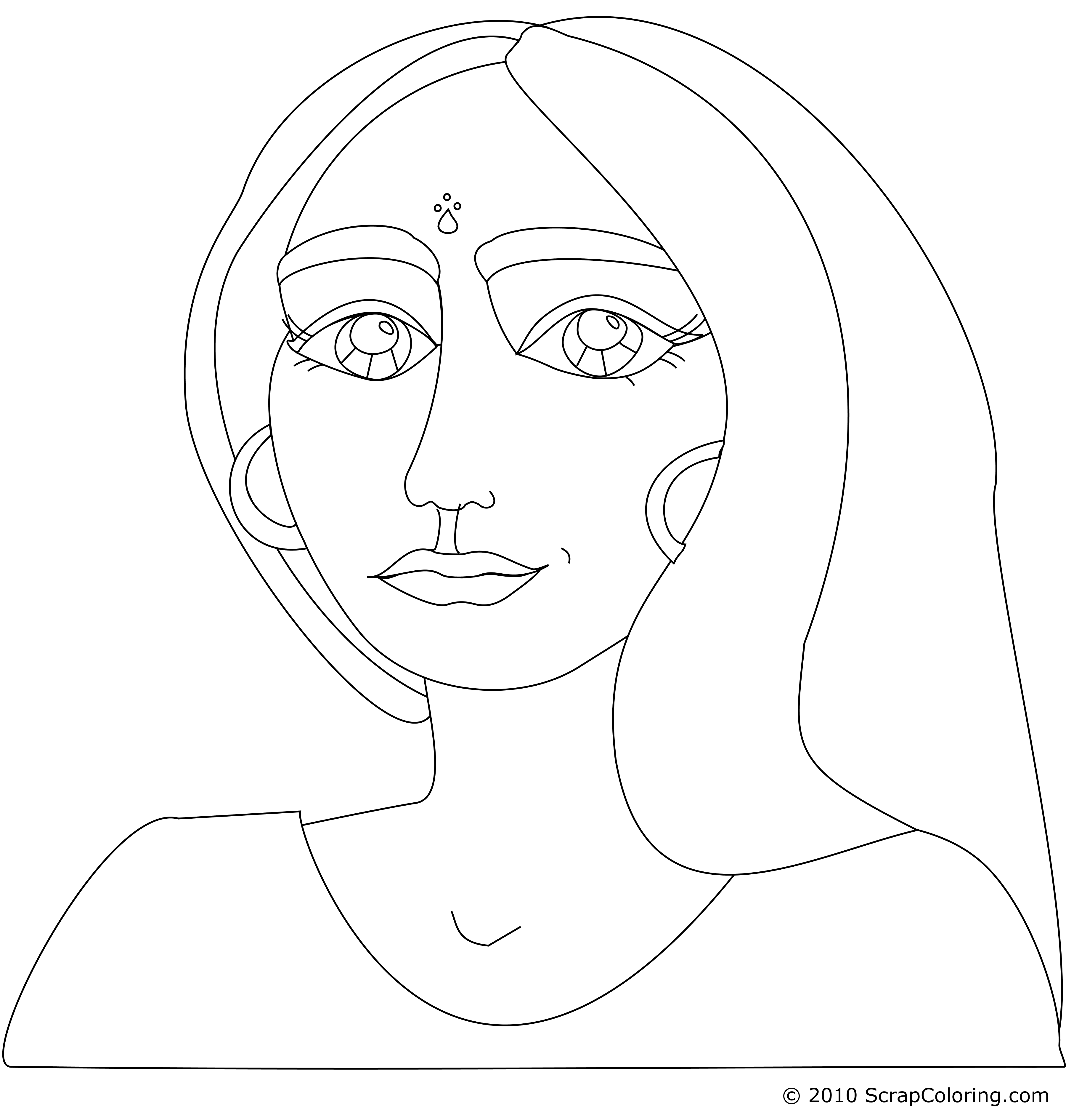 Faces clipart woman's face. Female drawing at getdrawings