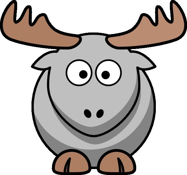 Grey cartoon clip art. Moose clipart file