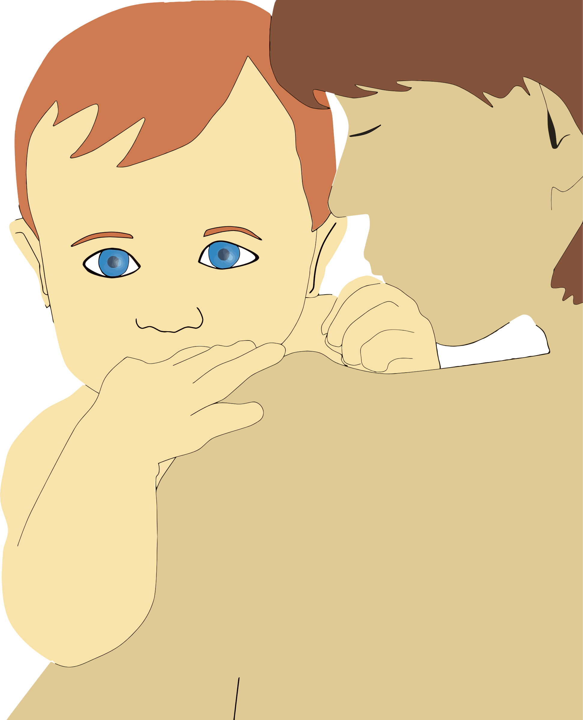 Clipart mom office. Mother and son big