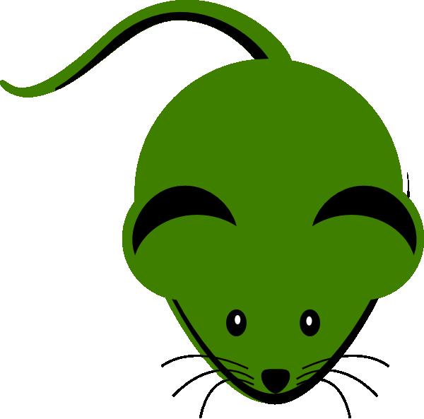 Cute green mouse cartoon. Watermelon clipart animated