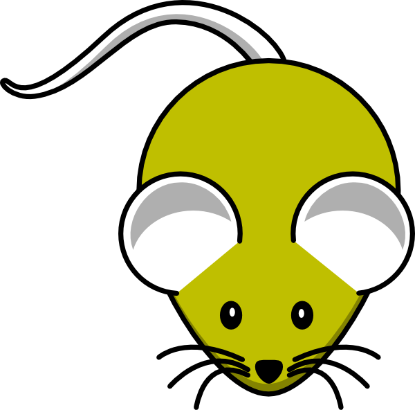 Color clipart mouse. Gray yellow clip art