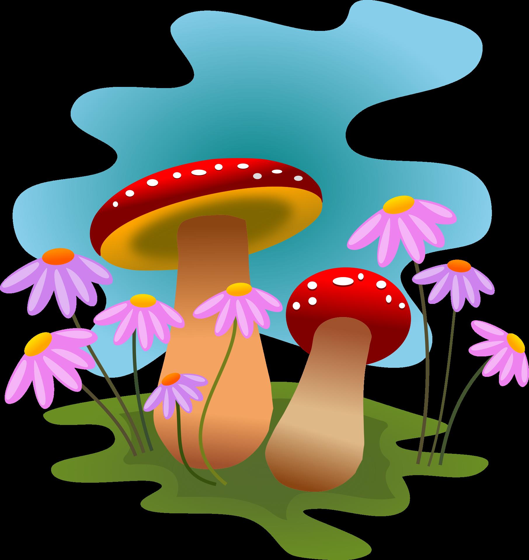 Clipart grass mushroom. Fungi at getdrawings com