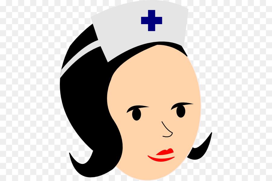 Nurse cartoon smile nose. Nursing clipart face