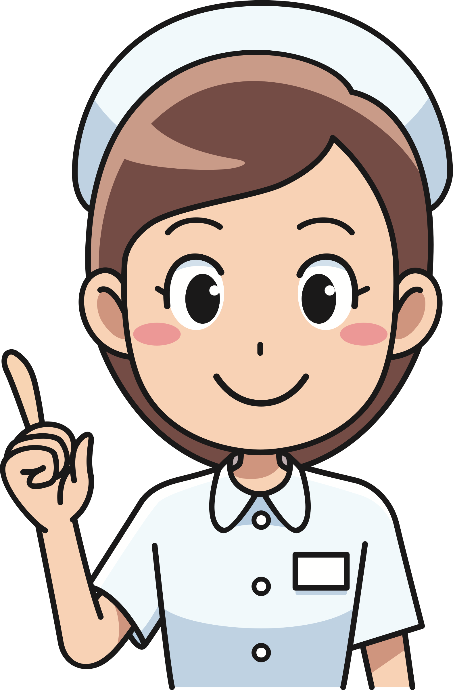 Cheerful big image png. Face clipart nurse