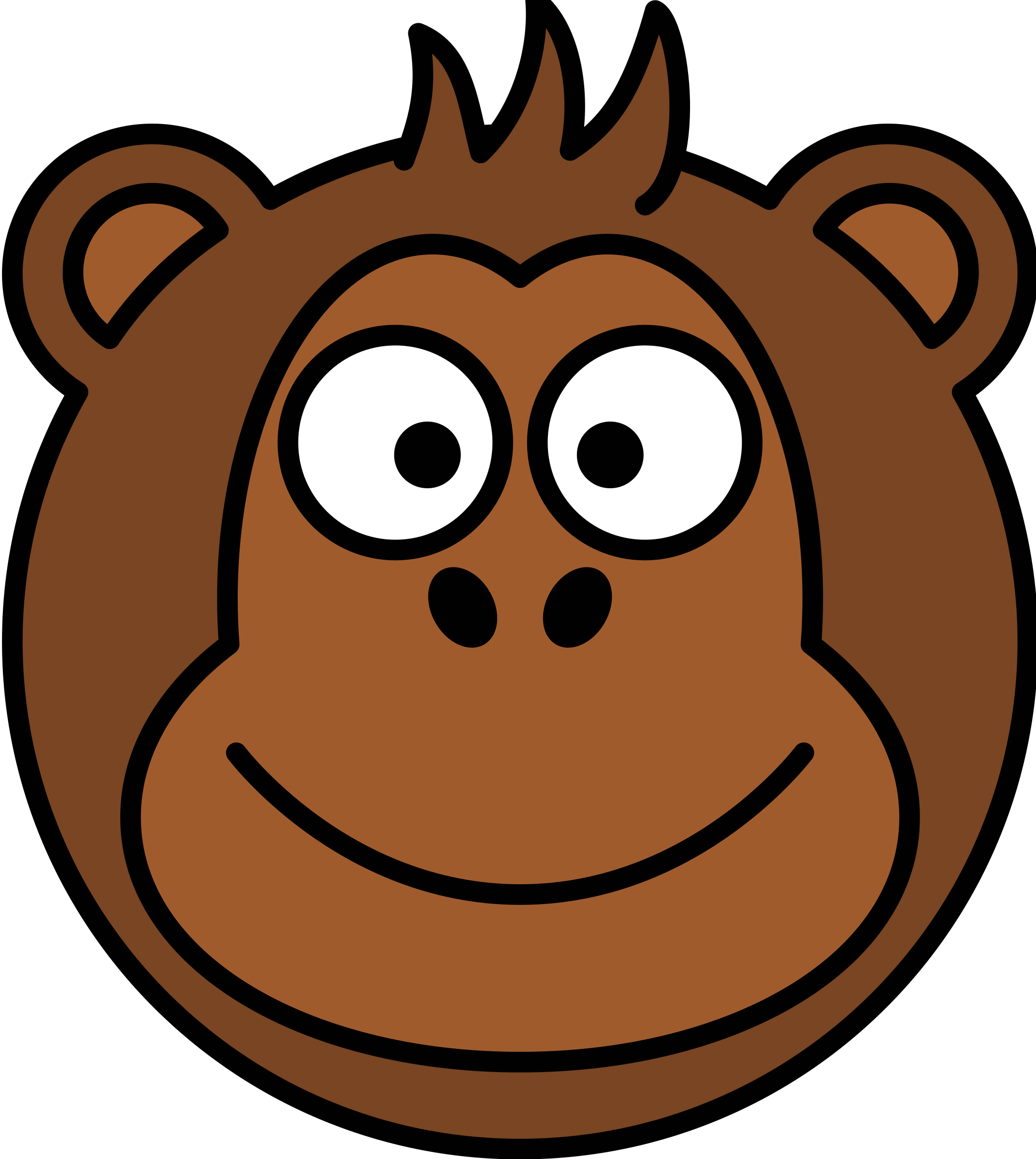 Nuts clipart head.  collection of monkey