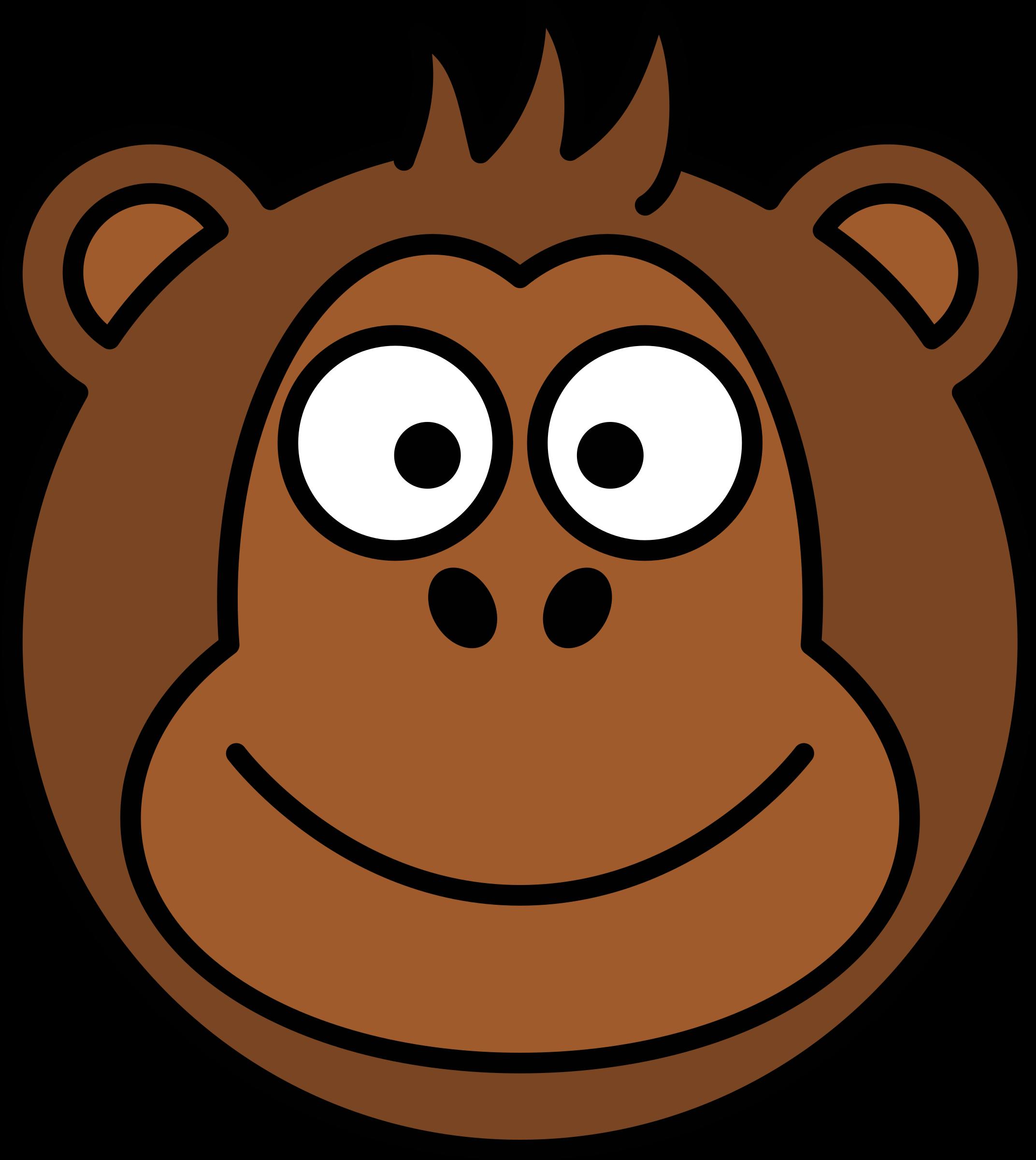 Clipart face orangutan.  collection of monkey
