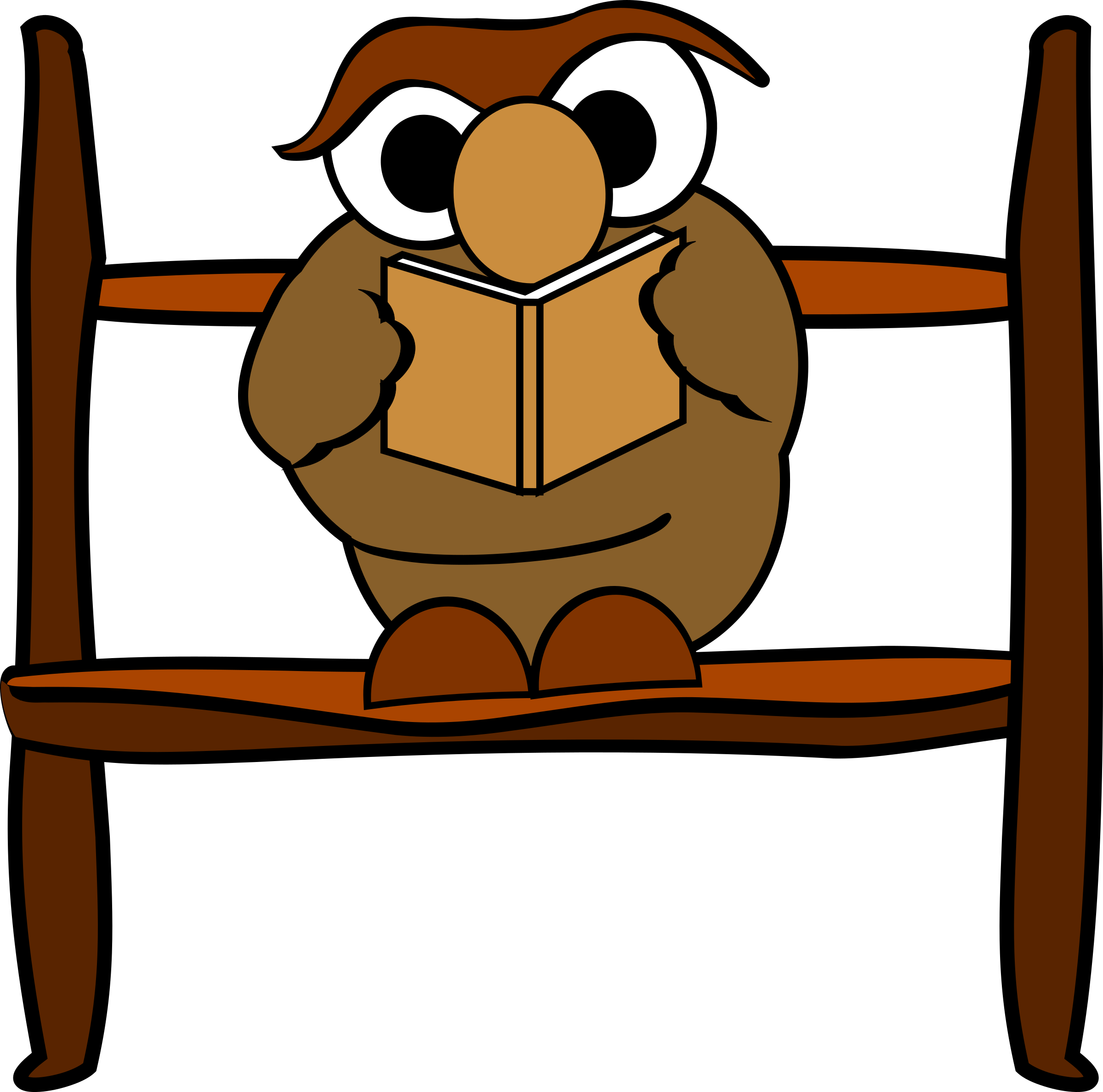 Reading big image png. Clipart face owl