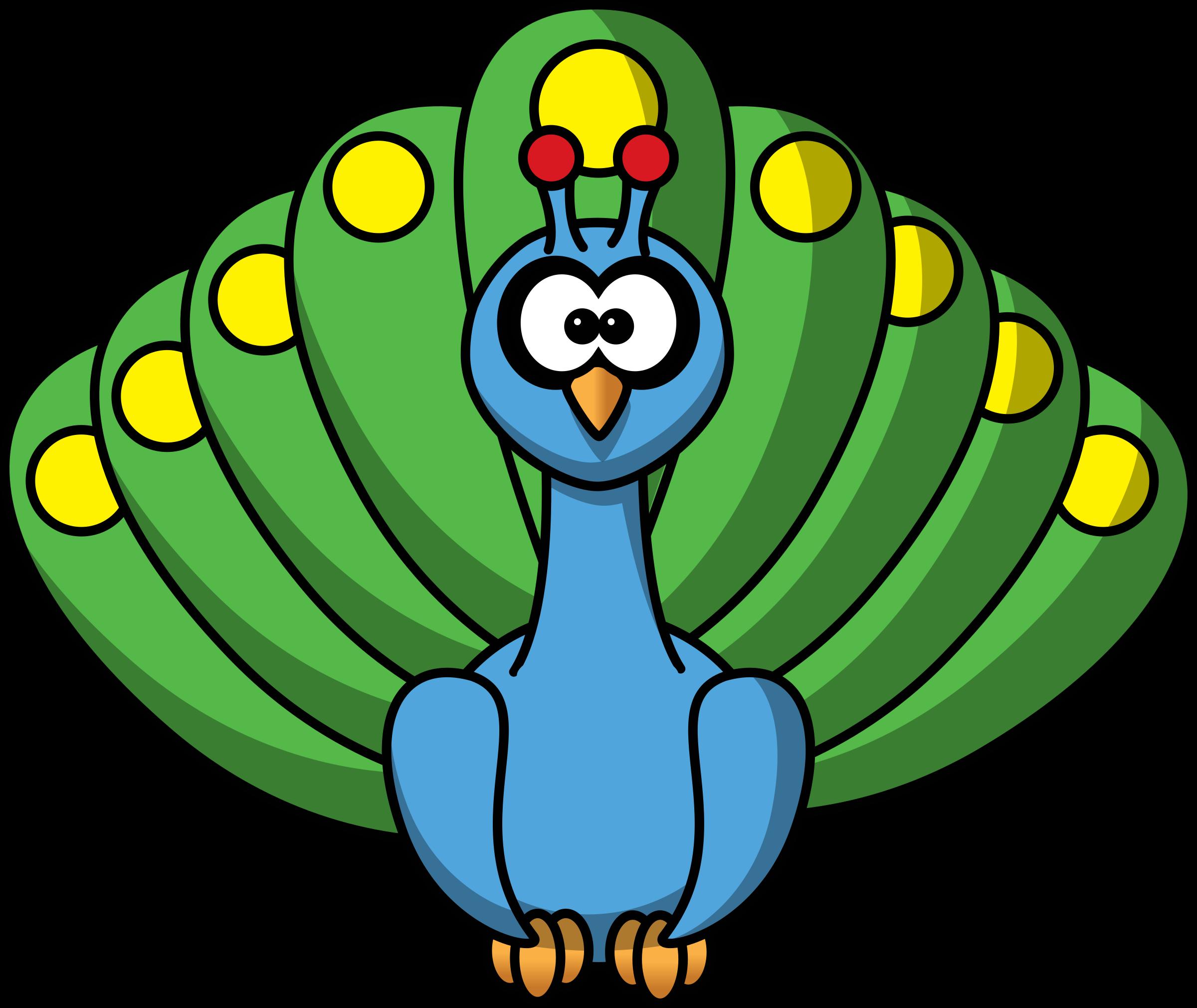 peacock clipart face