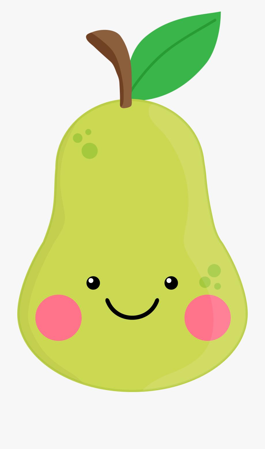 Pear clipart cute. Blueberry fruit clip art
