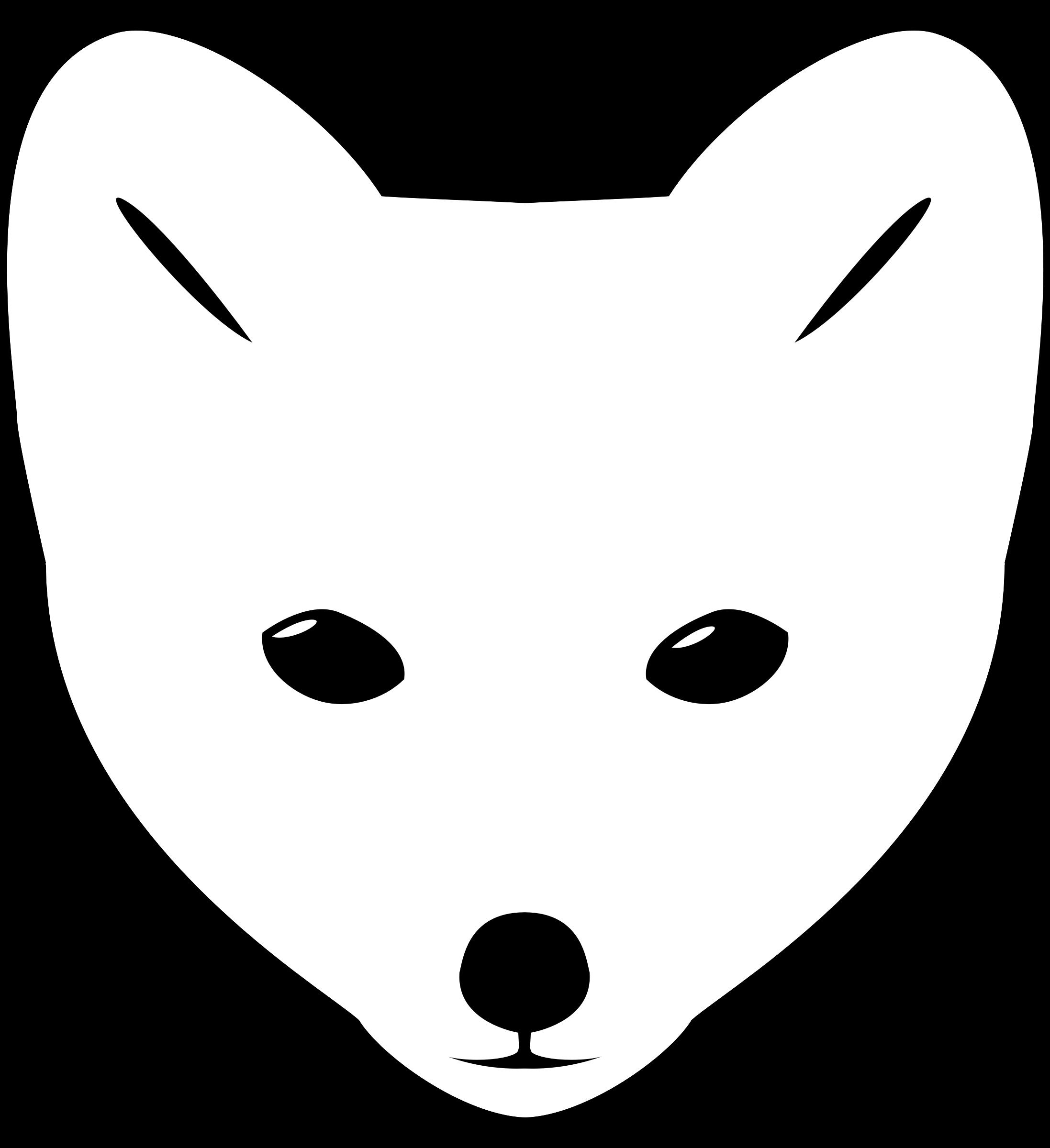 Wolf baby face pencil. Clipart fox arctic fox