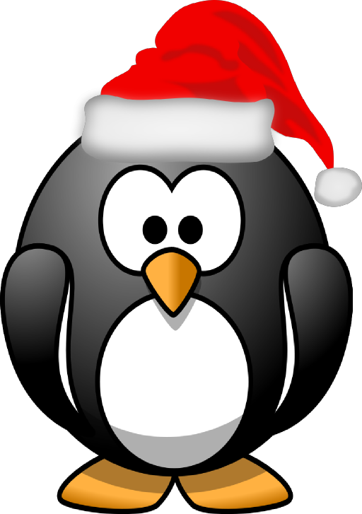clipart penquin happy new year