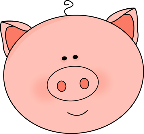 Clipart pig circle. Face clip art image