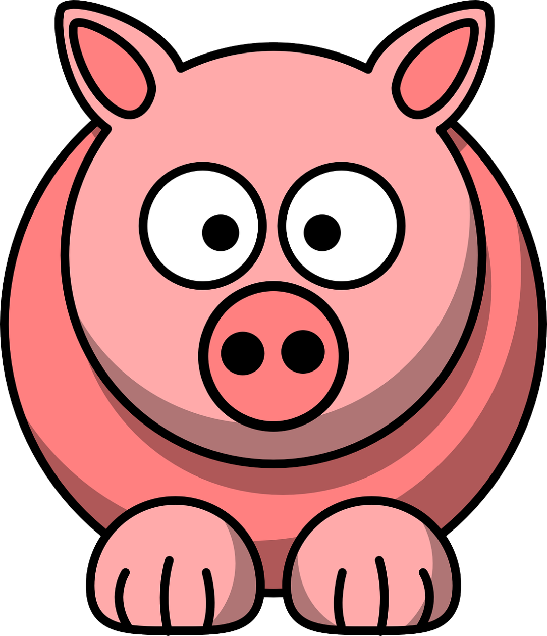 Pig clipart shadow. Face silhouette at getdrawings
