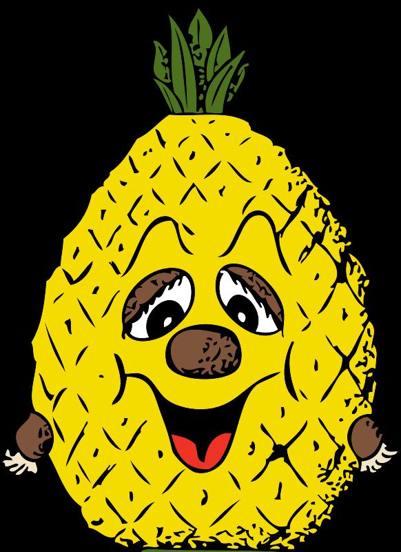 Pineapple clipart animated. Head medium image png