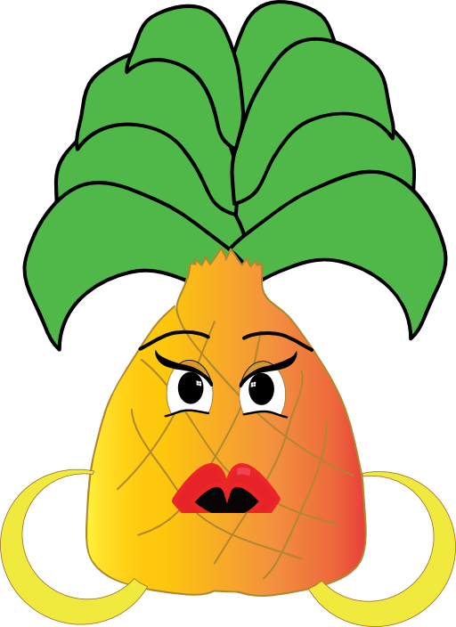 Pineapple clipart head.  collection of with