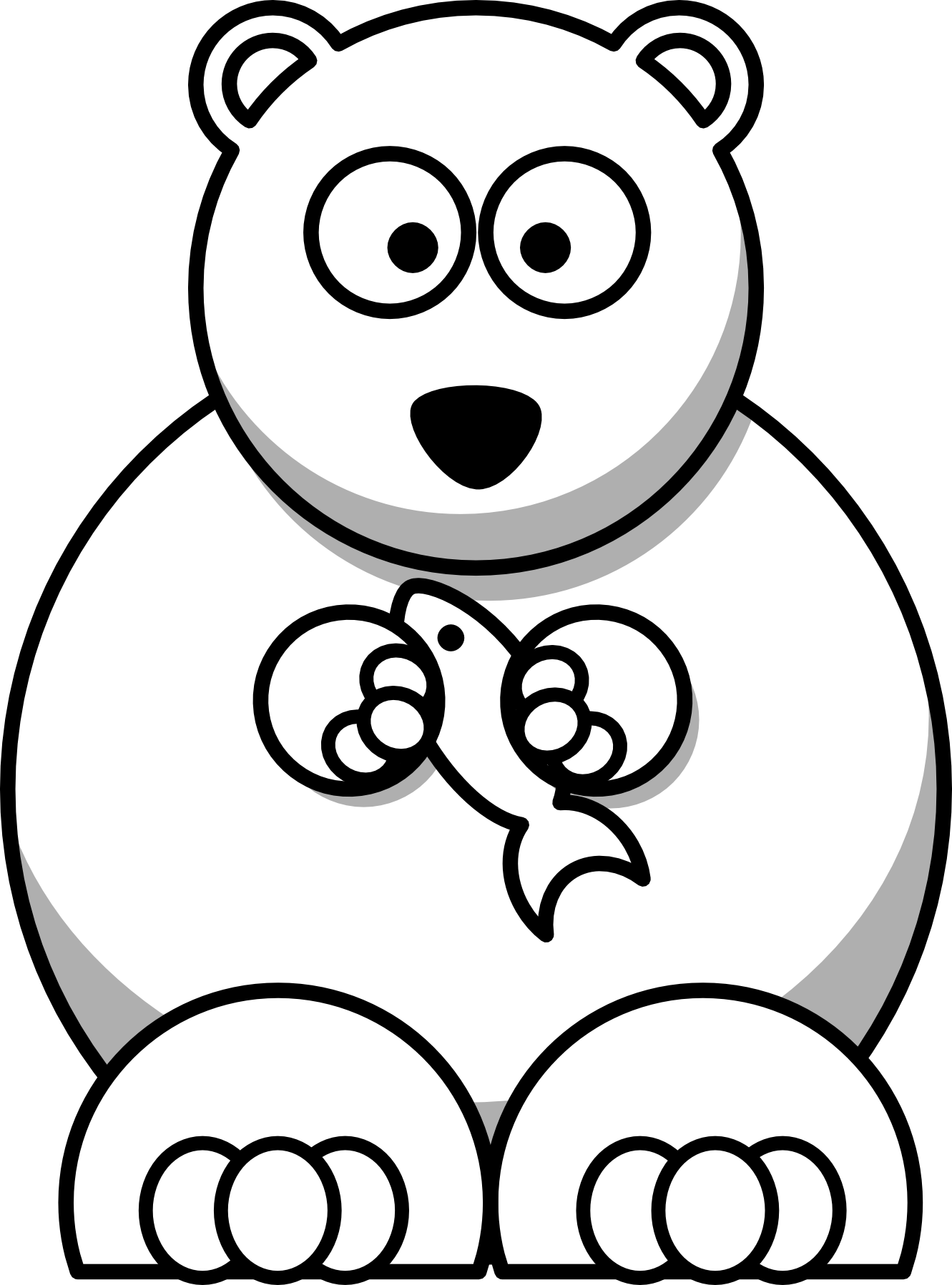 Family clipart polar bear. Cartoon coloring pages cincess