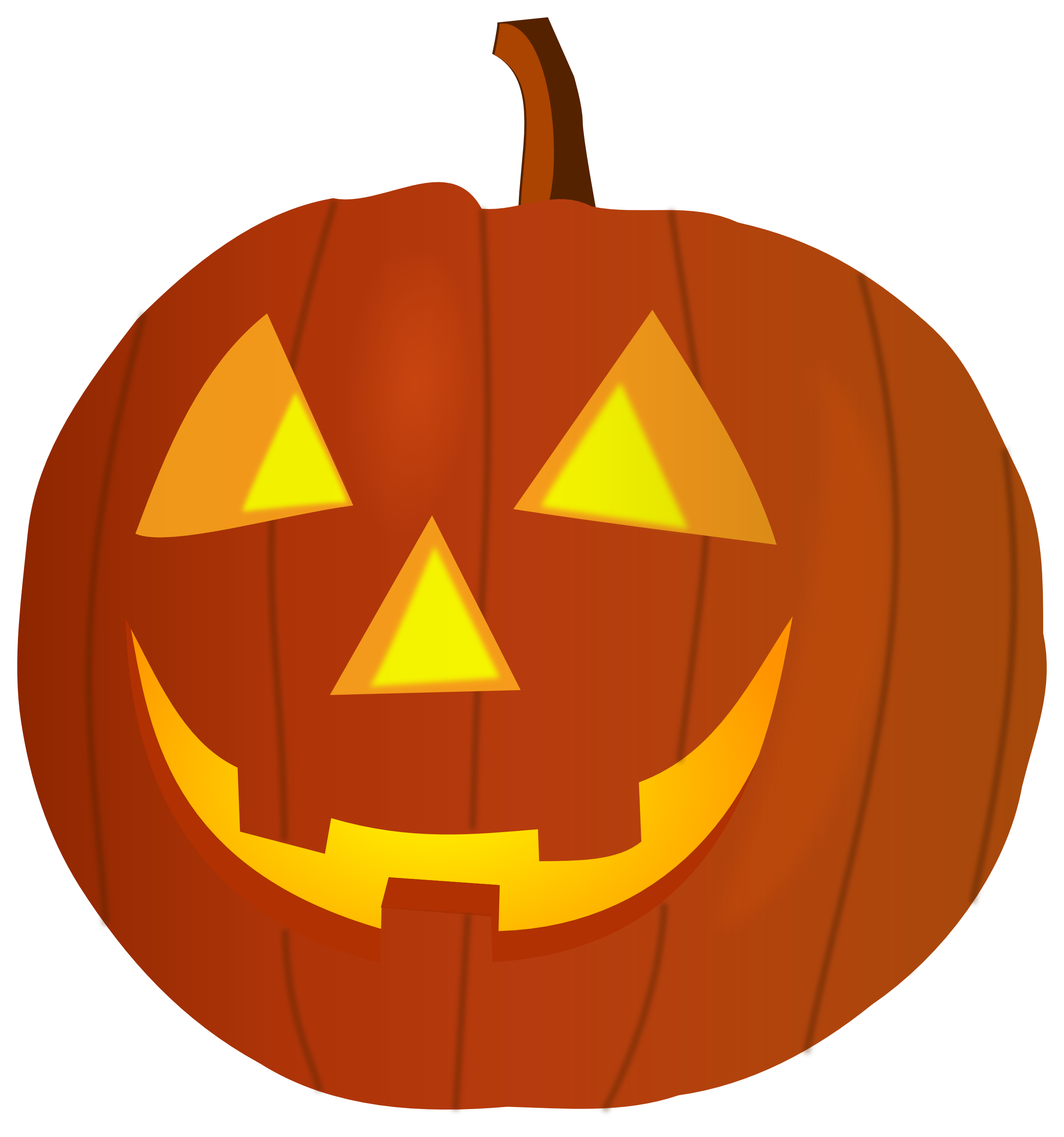 collection of halloween. Clipart tree pumpkin