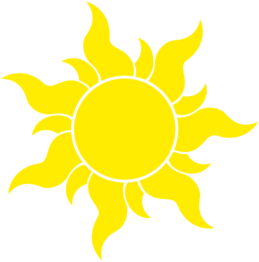 Clipart sun minimalist. Pattern for banner thinking