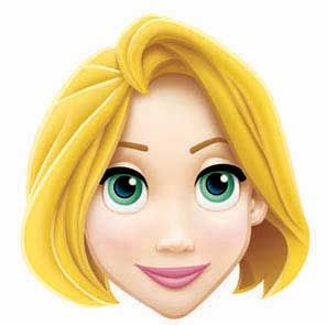 Rapunzel clipart face. Disney princess mask cake