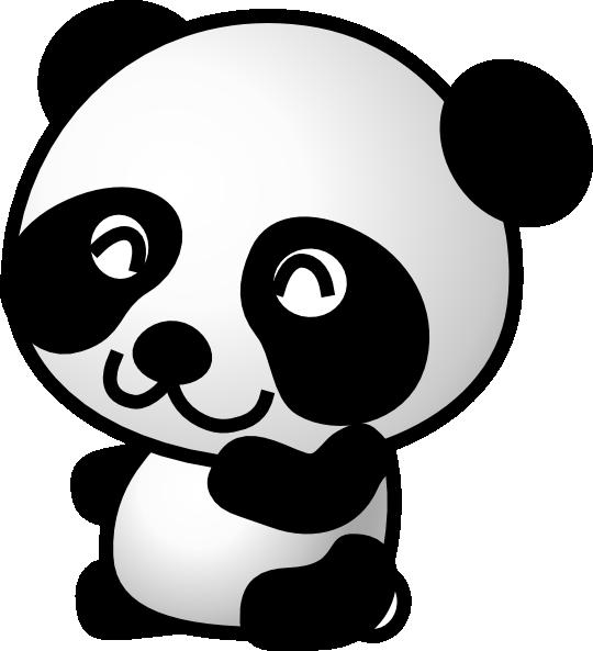 clipart panda little panda