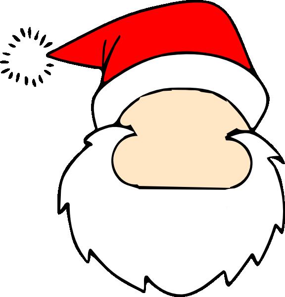Blank clip art at. Face clipart santa claus