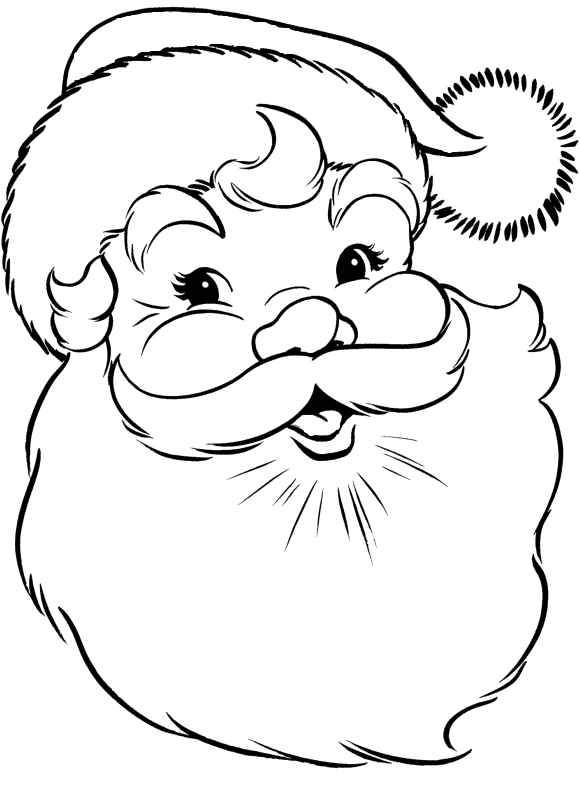 Stitch clipart angel colouring page. Face of santa claus