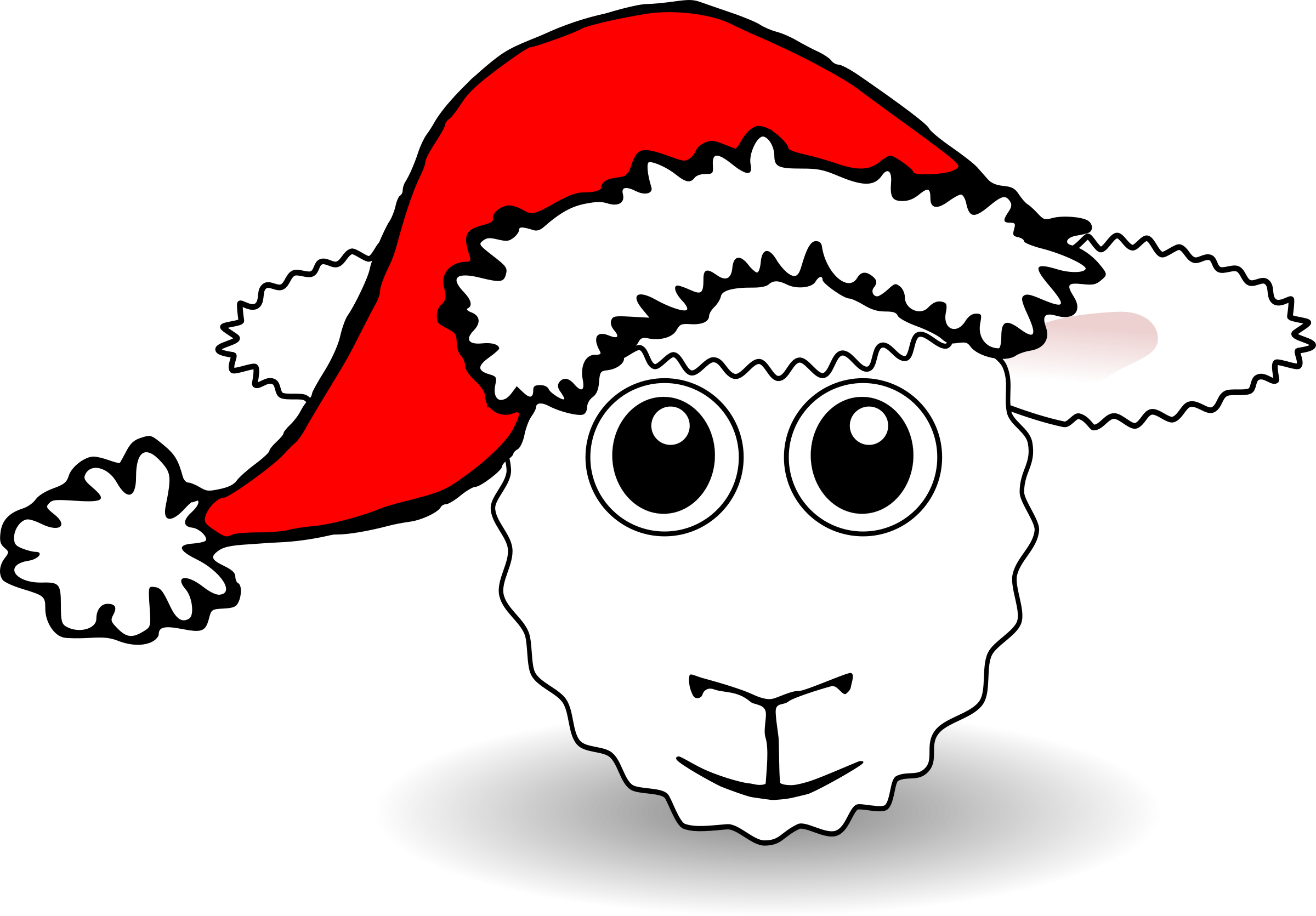 Funny face white cartoon. Sheep clipart man