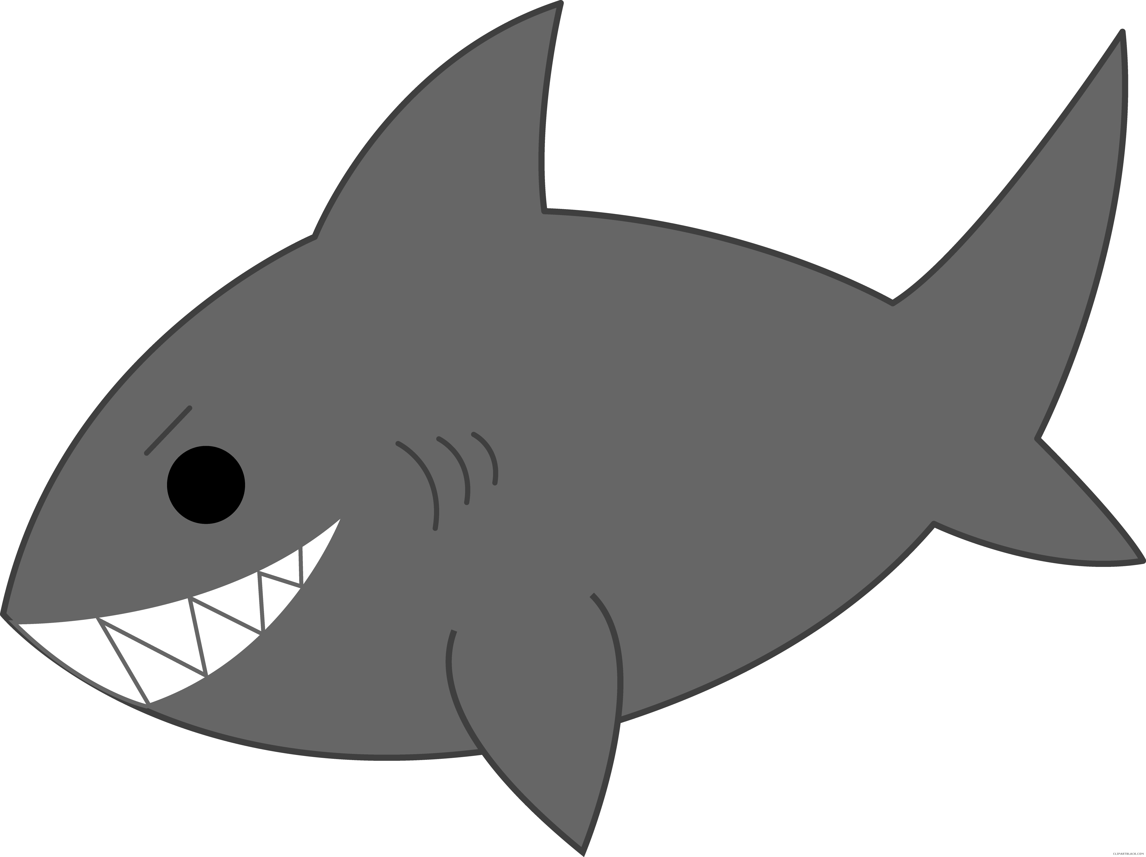 Grey animal free black. Clipart football shark