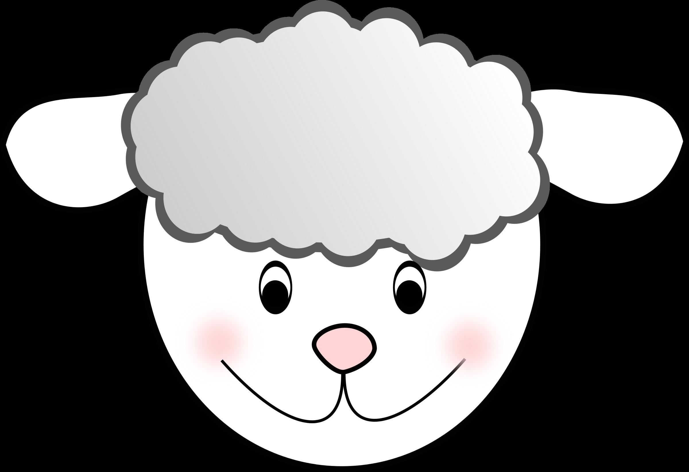Lamb clipart template. Sheep nice big image